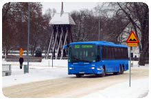 Installda skolbussar